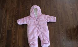Columbia Infant Snowsuit - Size 0-6 months Gently used pink infant snowsuit.  Very warm.  Comes from a smoke free and pet free home.