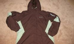 Columbia Ladies Winter Coat with hood size XL, brown with blue/green accent, warm lining, good cond. $45 firm. New last winter. From a non-smoking and pet free home. Pickup in Port Sydney or Bracebridge.