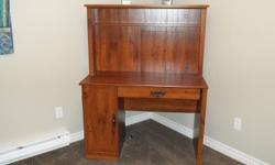 Just bought this desk about a month ago and decided that I wanted a different one.    Bought at Walmart on Special for $118.00 + tax.= 133.34   Asking $ 70.00 OBO   Brand is a Saunders Have the receipts