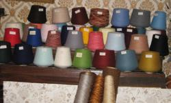 I HAVE A LARGE INVENTORY OF ACRYLIC YARN THAT CAN BE USED ON A STANDARD KNITTING MACHINE OR FOR HAND KNITTING. I HAVE ABOUT 38 DIFFERENT COLOURS [as shown in picture] COUNTS ARE  2.24,  2.20,  2.18,  2.16. I HAVE 446 LARGE CONES AT $1.50 each, AND 208