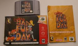 Open to all reasonable offers! Can deliver in London, or ship ANYWHERE! Up for grabs, I've got Conkers Bad Fur Day for the N64 for only $62.00, OBO! This one is hard to find, especially with the box/manual included. Perfect working condition, very nice