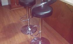 2 bar chairs adjustable