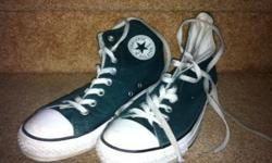 Chuck Taylor Converse All Star High Tops Dark green - Men's sz 7 (Women's sz 9) In excellent condition. Hardly worn. Pick up in Morgan's Grant, Kanata North Sorry, no delivery