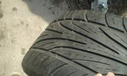One almost new Corvette or Camaro tire. Asking $40.00 OBO. Please call 289-439-4337