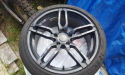Set of 4 Core Racing Diablo II rims with Michelin Pilot Super Sport High Performance Tires. These wheels are In mint condition. All black and shiny. Wheel size is 18x8. Wheel bolt pattern is 5x114.3 metric or 5x4.5 imperial. They will fit a wide range of