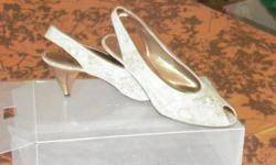 Please call 7057254773 multi colour cork shoes bronze heel size 71/2  click and view other items please