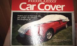 Car cover, like new, purchased for corvette. can be used for any car that size, elastic skirt wraps the vehicle perfectly, blue durable material, purchased new $135.00, selling $55.00 firm