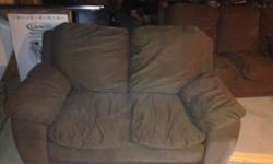 Couch has some imperfections but still very solid and comfortable. Love seat in good shape. Good for camp, basement or starving student. Couches are both solid brown- phone doesn't take great photos. Located in Echo Bay very close to Pit Stop off of old