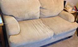 Beige love seat. Great condition. From a no pet and non smoking home. This is priced well below others couches as I need it gone this week. Priced to sell.
