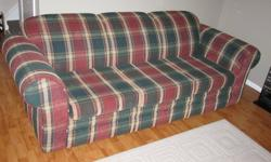 Couch, matching love seat, couch covers and pillows. Excellent condition, no rips or stains and from a smoke free home. Serious buyers only please.