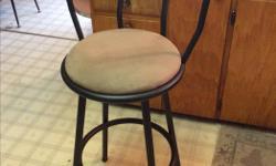 aluminum construction stool plush seat