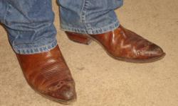 Cowboy boots Size 10.5 mens, Boulet, Brown.