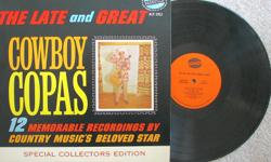 Cowboy Copas 1964 LP The Late and Great Cowboy Copas Special Collectors Edition (NLP 2013) on Nashville Records Cowboy Copas, was an American country music singer popular from the 1940s until his death in the 1963 plane crash that also killed country