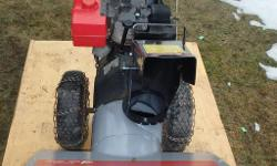Brand new front end. New auger bushings, new impeller bearing. New skid plate. Belts adjusted and freshly greased. Runs like new. Starts on the 1st pull. Very smooth and quiet. Solid chassis, cowl & chute. Tire chains included. They don't build them like
