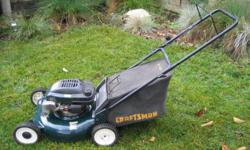 Craftsman Eager1 6.5HP Gas Lawn Mower in good condition. Paid over $400 new. Asking $175 OBO.