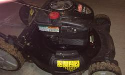 Sears best gasoline lawnmower Platinum 7.25 model Easy pull start Winter serviced Newly sharpened blade Like new, a few years old