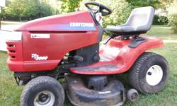 """Craftsman 18 hp lawn tractor, 42"""" deck, hydrostatic transmission, serviced annually Ready to go, works great $650 firm Or will sell with bagger for $800 Prefer phone call to set up viewing"""