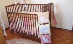 Have an 11 pc crib bedding for sale.   Price is firm.