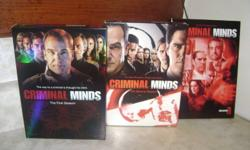 SEASONS 2  and  3 OF CRIMINAL MINDS AND  YEAR 11 OF LAW AND ORDER SVU   $ 15 DOLLARS  EACH  Please use the contact phone number 519-337-4088 ask for john