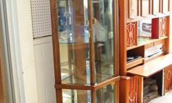 """Curio Cabinet Like new, 4 Shelves See more at Street Flea Market in Smiths Falls """"Storewide Red Tag Sale"""" 40% off all in store merchandise"""