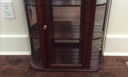 """Curio cabinet from Bombay company, mint condition, origanaly 350 New 25"""" tall 21"""" across"""