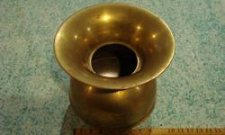 CUSPIDOR(spitoon), BRASS WITH UNION PACIFIC R.R. LOGO. Excellent condition with nice patina.