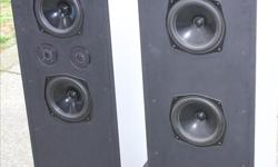 There are Speakers on the front and back of cabinet with tweeter that can be turned on and off depending on room size and volume of music. These speakers where made for an Audiophile for his home system. The issue was they were too loud for the neighbours