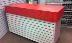 Well made and versatile counter. Solid construction with lots of storage. Top is Ted with rounded corners. Rest can be painted to suit decor. Pick up only. This ad was posted with the Kijiji Classifieds app.