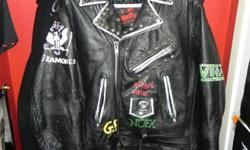Size 40 leather jacket. Good condition