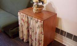 """Selling a shabby chic floral all-purpose storage stand. 28""""wide x 16""""deep x 29""""high. 25$firm"""