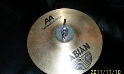 "SABIAN AA - 6"" Splash  w/mount,excellent conition....$50.00     Nu Vader 20"" Ride cymbal,excellent condition...$45.00      Nu Vader 16"" Crash cymbal,excellent condition...$25.00    Nu Vader 14"" High hat cymbals,excellent condition....$40.00"