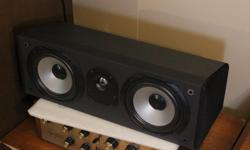 """Here is a Dalhquist QX60C center channel in very good condition. It was the top of the line, it originally sold for $600. It can be bi-amped. It features a titanium dome tweeter and 2 6.5"""" woofers. All drivers are working. May be auditioned. Gear serviced"""