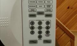 Danby microwave (smaller size) white email any questions or interest. Thank you