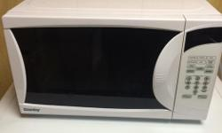 Danby Microwave (White) for sale. It is a smaller sized microwave which still works fine. Used for one year then stored away. Available for pickup Mon-Fri 8am-4pm on Thurston Drive (East End), After 4pm Sanibel Private (West End