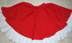 """Used dance skirt for Mary's Islanders School of Dance.  Not sure of a size, but it has an elastic waist.  Maybe for a girl up to age 9?  Length from top to bottom is 18"""".  Call or e-mail.  Pick up only.   If ad is still here then skirt is still for sale."""