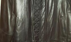 Men's leather jacket, like new, size 40/42