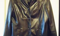 Looking for a fabulous like new Woman's Leather Car Coat? I'm selling my Danier women's black leather car coat - front button closure Collared with v-neck front design. This coat was worn at most twice last winter. (Already have 2 other similar ones so