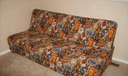 "a davenport is an old fashioned name for a futon! and i have an old davenport, wonderful orange print, makes down into a 40"" wide bed, has storage underneath. open to offers ..."
