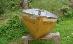 """LIFE BOAT MADE BY DAVIDSON MFG.CO.LTD. MADE APRIL 7 1967--(4767) SIZE 50 CU.FT.(volume)-OR 10' 2""""-LONG X4' 2"""" WIDE X 1FT. 9"""" DEEP--MANUFACTURERS PLATES ON TRANSOM--IDEAL PROJECT--HULL ALL FIBERGLASS--ALL WOOD TO BE REPLACED--HAS HISTORY--ITS FROM A"""