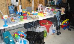 We are having a daycare closing sale. Everything in these pictures are for sale. Things included in the sale are -tons of books (2 for $1) -tons of puzzles ($1 each) -mega bloks with wagon ($10, includes bloks in wagon and another bag) -baby toys -little