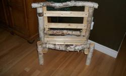 Two birch benches. aprox 28 inches long by 26 inches tall. 20.00 each.