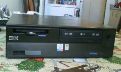 CASH ONLY, PICKUP ONLY, COMPUTER RUNS GREAT! ITS IN GREAT SHAPE, TRY IT BEFORE YOU BUY IT IF YOU SEE THIS AD THEN ITS STILL FOR SALE IBM NETVISTA DESKTOP SPECS. INTEL PENTIUM 4 ? 2.0 GHz PROCESSOR 200GB HARD DRIVE 1GB OF RAM LG DVD RW (BURNER) FLOPPY-A
