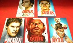Dexter TV series seasons 1 to 5 on DVD, item #138170-26. Price of $39 includes all taxes. PLEASE REFER TO INVENTORY #138170-26 WHEN INQUIRING because it's a special online price**. We also have more items for sale at The Bay Street Broker located on the
