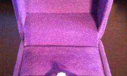 18kwg 1x.25 CT CDN solitaire engagement ring. With original receipts, case, box, and Ben Moss lifetime diamond guarantee. Original cost $1300.00 This ad was posted with the Kijiji Classifieds app.