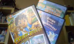 Safari Rescue, Wolf Pup Rescue and Diego Saves Christmas. $5 for the 3 or $2 each. My kids have outgrown them.
