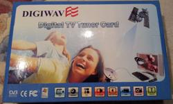 DIGIWAVE DGP-103G PCI, Satellite TV for PC, works like new, comes with original box, cd driver, Windows 7 drivers available, asking $40