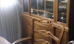 Dining room set 6 chairs (1 with arms), Table, and China Cabinet $299 or best offer