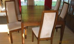 Dining Room Suite -solid oak -6 chairs -table, extension leaf -hutch excellent condition, sold as a package. Asking $800 or best offer, call 519-641-8154.