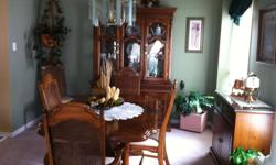 TABLE with 6 chairs, bufftet and hutch, server, MOVING SALE, DOWNSIZING