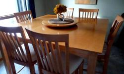 Dining Set 10pc. Pub-Style Table and 8 chairs, lazy Susan. Just in time for Christmas dinner.      519-583-2126  call anytime